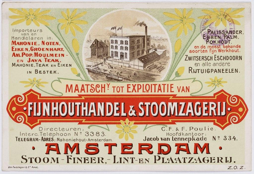 Fijnhouthandel affiche Amsterdam Oud West